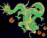 The green dragoon of the springtime: a lucky symbol of Feng Shui